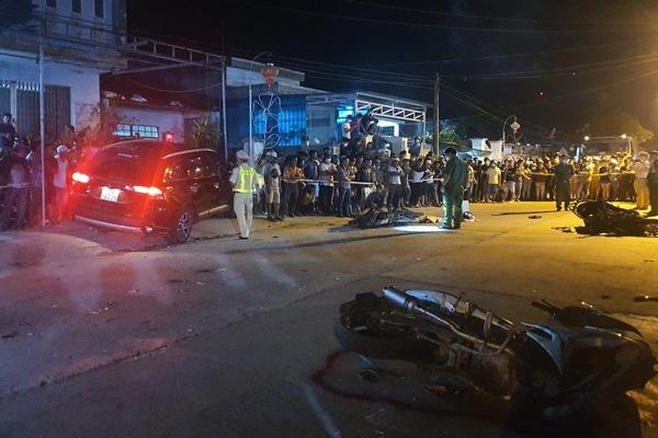 Tạm giữ hình sự tài xế tông hàng loạt xe máy, 2 người chết ở Quảng Nam - Ảnh 2.