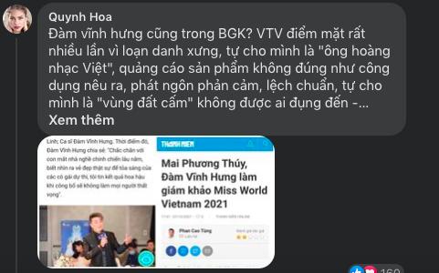 """Vướng ồn ào sao kê, Đàm Vĩnh Hưng vẫn ngồi """"ghế nóng"""" khiến fanpage Miss World Vietnam hứng """"bão"""" dư luận - Ảnh 5."""