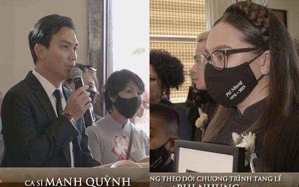 Tang lễ ca sĩ Phi Nhung ở Mỹ: 'Người tình sân khấu' Mạnh Quỳnh nói về nỗi hàm oan của giọng ca bạc mệnh