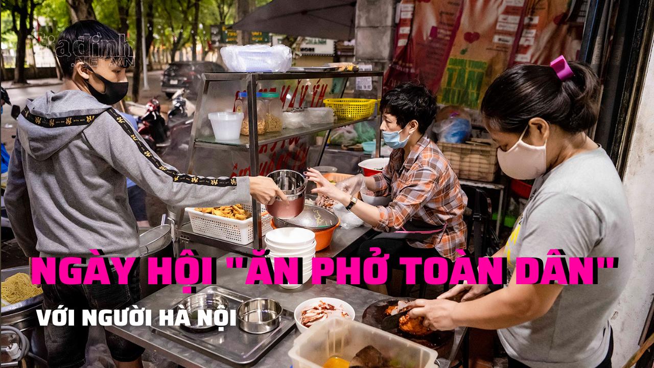 Người Hà Nội trong 'ngày hội toàn dân ăn phở'