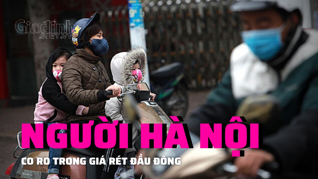Chớm đông, người Hà Nội co ro, trong giá rét, mưa phùn đầu mùa