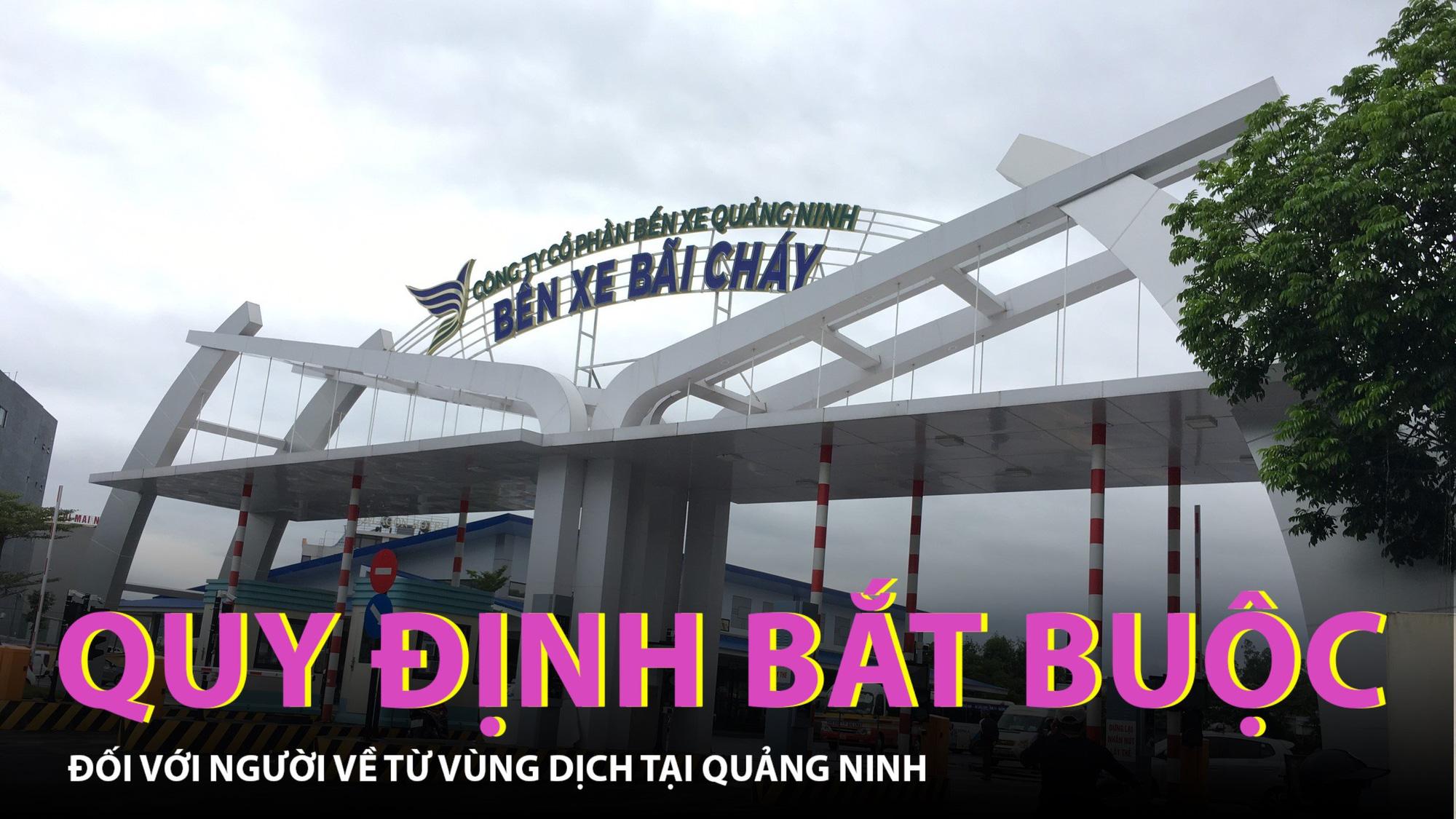 Quy định bắt buộc với người về từ vùng dịch tại tỉnh Quảng Ninh