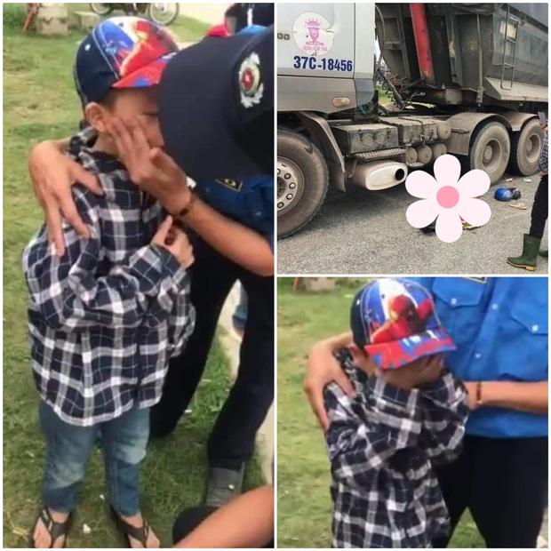 Xót xa cảnh tượng cậu bé 8 tuổi òa khóc nức nở khi chứng kiến mẹ và chị gái tử vong dưới gầm xe tải - Ảnh 2.