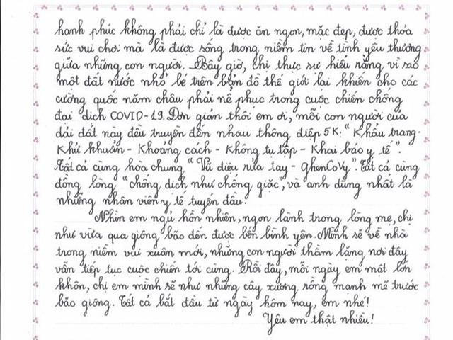 Nữ sinh giành giải Nhất viết thư UPU: Cảm hứng từ tâm dịch COVID-19  - Ảnh 5.