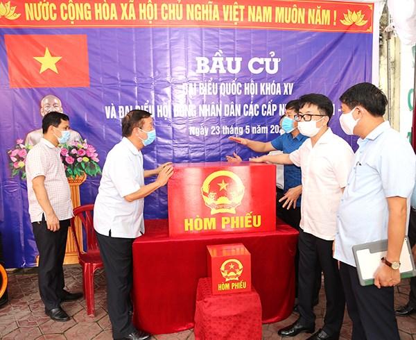 Hải Phòng tổ chức phân luồng trong ngày bầu cử - Ảnh 5.