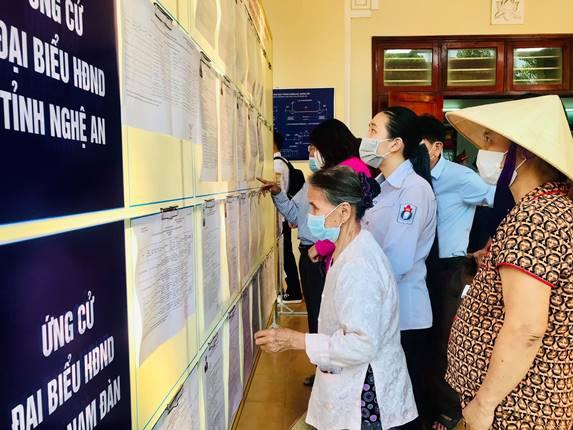 Ngày hội bầu cử trên quê hương Bác - Ảnh 3.