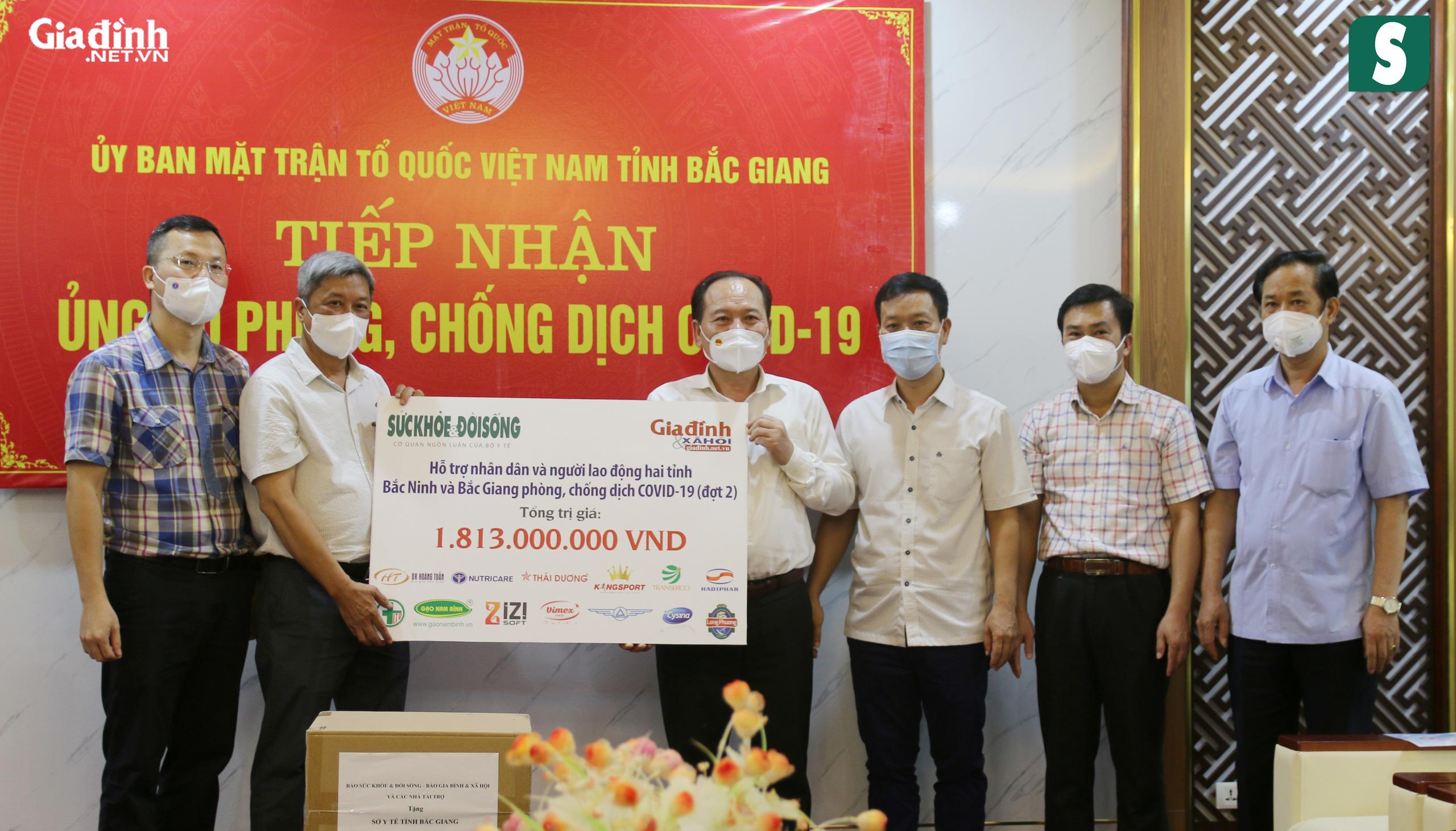 Báo Sức khỏe & Đời sống và Báo Gia đình & Xã hội kêu gọi hơn 1,8 tỷ đồng hỗ trợ Bắc Giang, Bắc Ninh chống dịch - Ảnh 4.