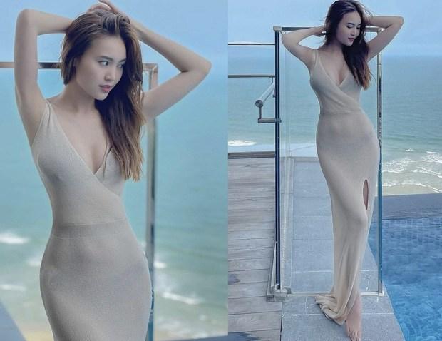 Đồ len móc lưới đâu chỉ diện vào mùa đông, sao Việt còn ốp luôn cho outfit ngày hè - Ảnh 4.