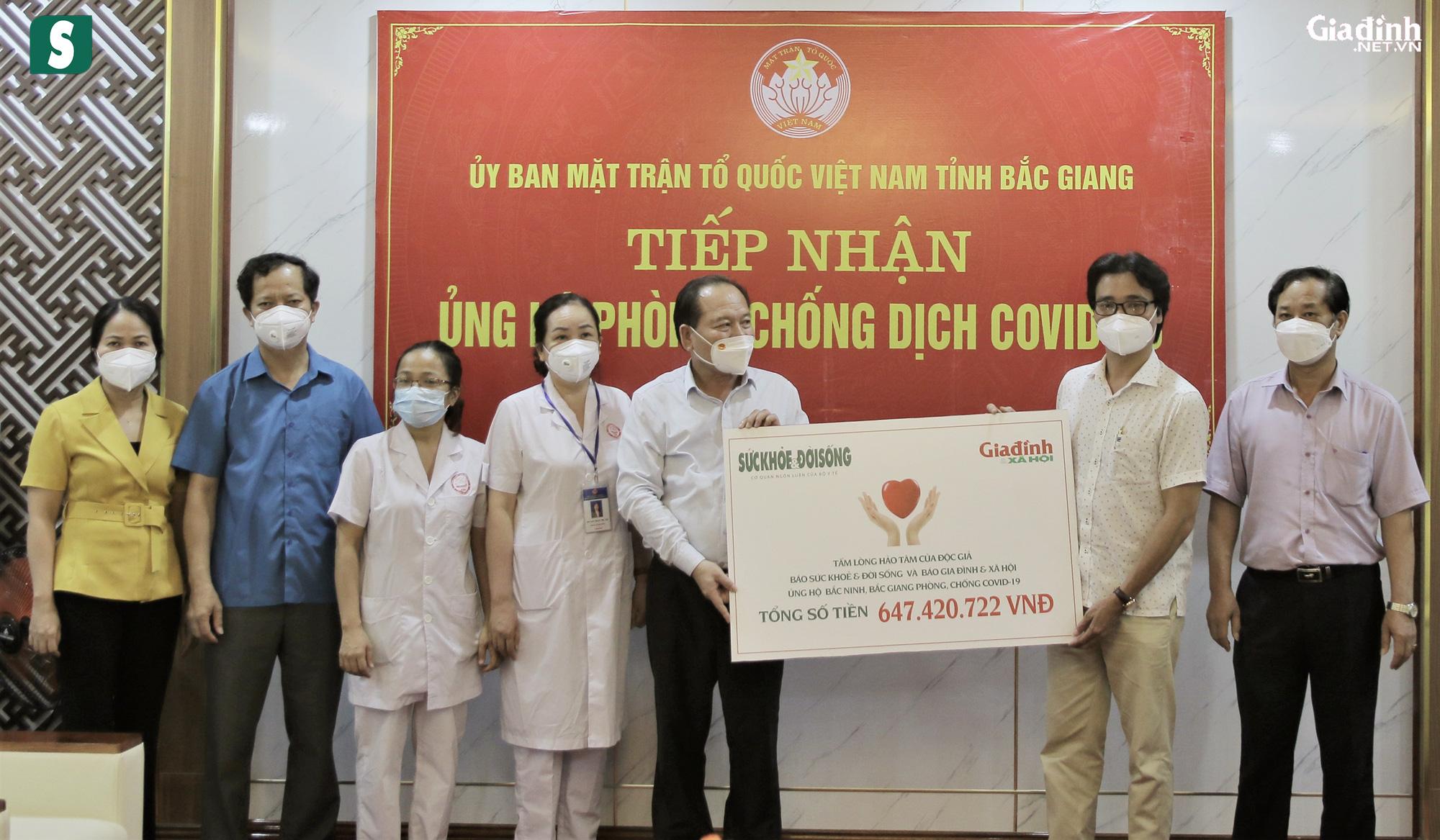Hơn 2,5 tỷ đồng gửi tới tuyến đầu chống dịch Bắc Giang, Bắc Ninh - Ảnh 6.