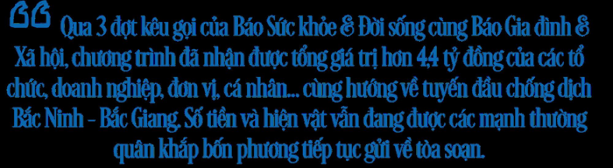 Hơn 2,5 tỷ đồng gửi tới tuyến đầu chống dịch Bắc Giang, Bắc Ninh - Ảnh 1.