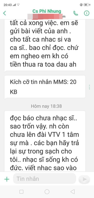 Xuất hiện tin nhắn được cho là của Phi Nhung muốn đòi lại sự trong sạch cho mình - Ảnh 2.