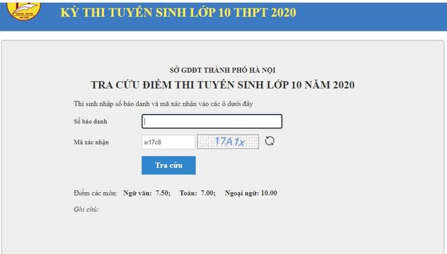 Xem điểm thi vào lớp 10 THPT năm 2021 tại Hà Nội bằng cách nào? - Ảnh 3.