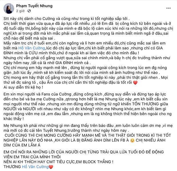 Con gái nuôi Phi Nhung viết tâm thư gửi Hồ Văn Cường, hé lộ chuyện mẹ nuôi bật khóc vì loạt lùm xùm - Ảnh 2.