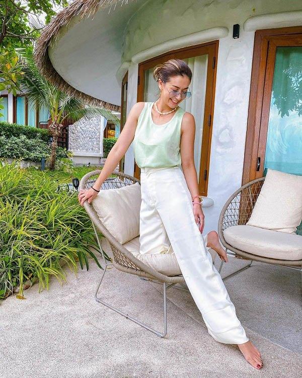 آموزش پوشیدن شلوار پهن فوق العاده زیبای دختران تایلندی - عکس 6.