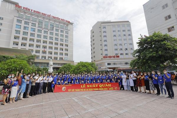 239 thầy trò Học viện Y Dược học cổ truyền Việt Nam xuất quân chi viện TP HCM - Ảnh 4.