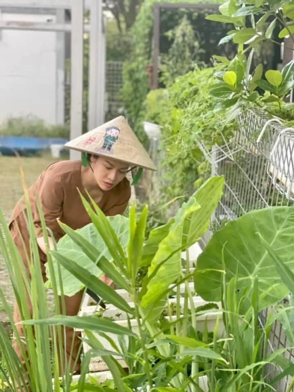 Nhật Kim Anh làm chị nông dân trong ngày giãn cách - Ảnh 9.