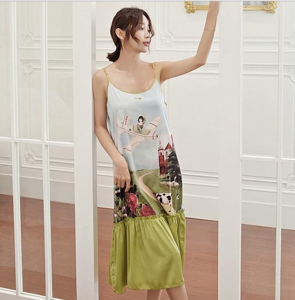 Những kiểu váy mặc nhà nghỉ dịch mát mẻ, thoải mái mà vẫn thời trang khiến nàng thích mê - Ảnh 3.