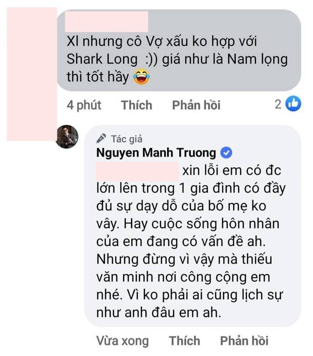 Vợ bị chê xấu không bằng Phương Oanh, Mạnh Trường đáp trả căng khiến netizen phải câm nín - Ảnh 3.