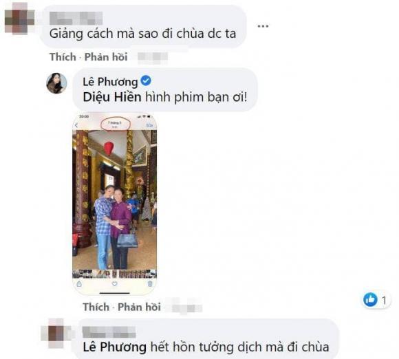 لو فونگ به دلیل نمایش عکس هایی از بازدید از معبد در بحبوحه فصل همه گیری مورد انتقاد طرفداران مخالف قرار گرفت ، لو فونگ به سرعت توضیح داد - عکس 3.