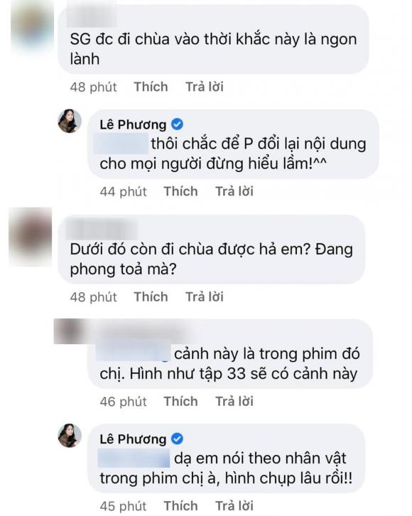 لو فونگ با انتقاد از طرفداران مخالف که عکس هایی از راه رفتن در معبد را در اوج فصل همه گیری نشان می دهند ، به سرعت توضیح داد - عکس 4.