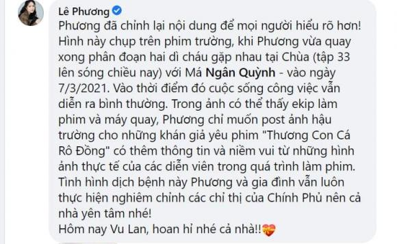 لو فونگ به دلیل نمایش عکس هایی از بازدید از معبد در بحبوحه فصل همه گیری مورد انتقاد طرفداران مخالف قرار گرفت ، لو فونگ به سرعت توضیح داد - عکس 5.