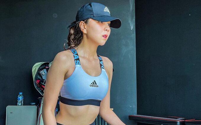 MC Mai Ngọc đạt mục tiêu tăng cơ, giảm mỡ dù tập ở nhà