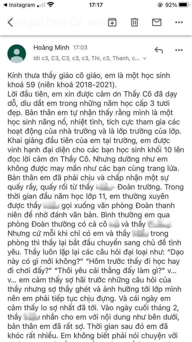 Sự thật bất ngờ vụ Thầy giáo Quảng Ninh bị tố quấy rối, nhắn tin tán tỉnh nữ sinh cấp 3: UBND TP đưa ra kết luận chính thức - Ảnh 2.