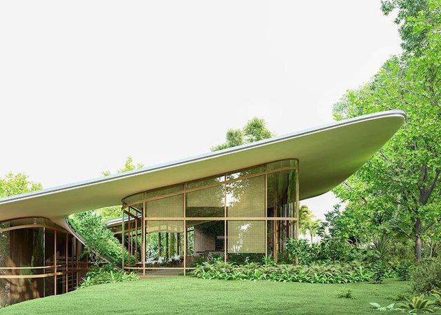 Ngôi nhà 'tàng hình' nhờ dùng thảm cỏ làm mái - Ảnh 3.