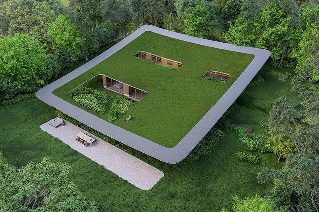 Ngôi nhà 'tàng hình' nhờ dùng thảm cỏ làm mái - Ảnh 10.