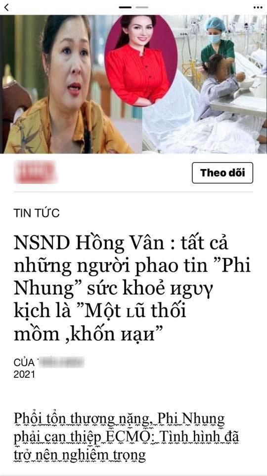 NS Hồng Vân bức xúc vì bị mạo danh tung tin tức tiêu cực về bệnh tình của Phi Nhung - Ảnh 4.