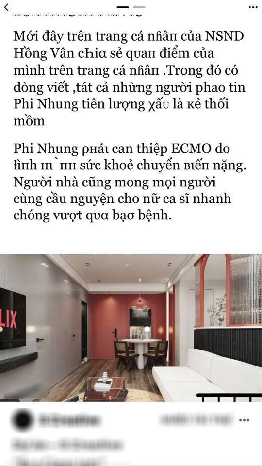 NS Hồng Vân bức xúc vì bị mạo danh tung tin tức tiêu cực về bệnh tình của Phi Nhung - Ảnh 5.