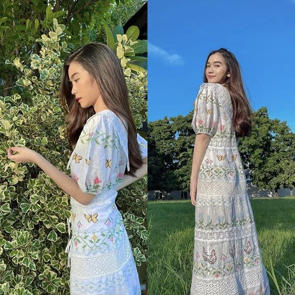 Mỹ nhân Thái Lan phối váy áo hoa đón thu không lo sến súa - Ảnh 4.