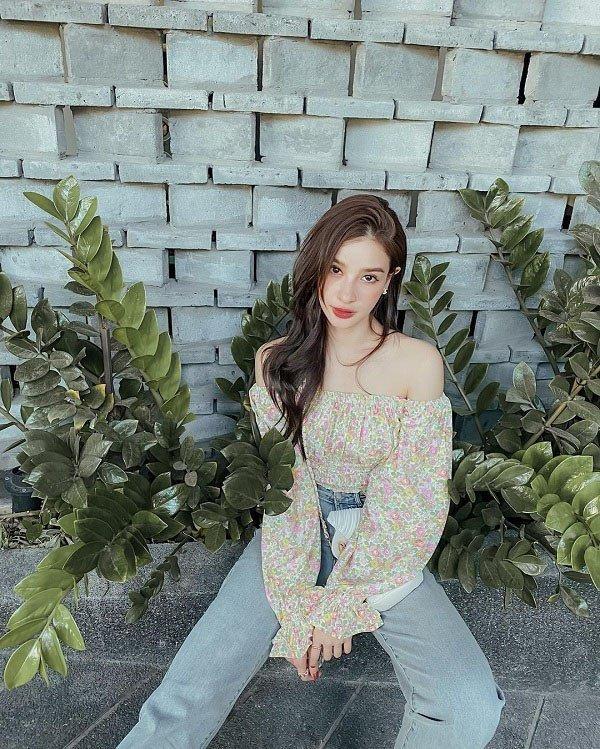 Mỹ nhân Thái Lan phối váy áo hoa đón thu không lo sến súa - Ảnh 7.