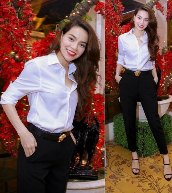 Muôn kiểu mix áo sơ mi dài tay sành điệu của mỹ nhân Việt, nàng công sở tha hồ học theo và tích lũy thêm bí quyết - Ảnh 10.