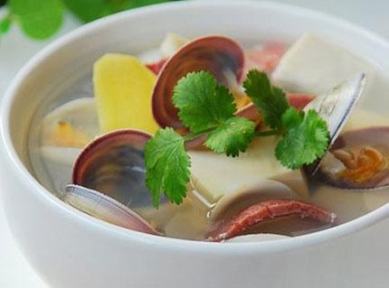 Nấu canh ngao đậu hũ cho ngày oi nóng 1