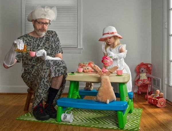 Những bức ảnh cha và con gái nhỏ cực đáng yêu 8