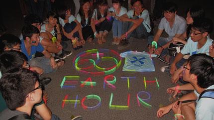 Giới trẻ Hà Thành không ngại tắt đèn hưởng ứng giờ trái đất 2