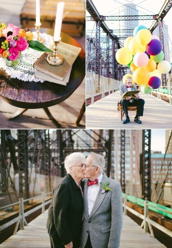 Bộ ảnh kỷ niệm 61 năm tình yêu của cặp vợ chồng ngoại bát tuần 3