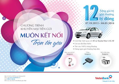 Khuyến mại lớn trên 12 tỷ đồng từ VietinBank  1