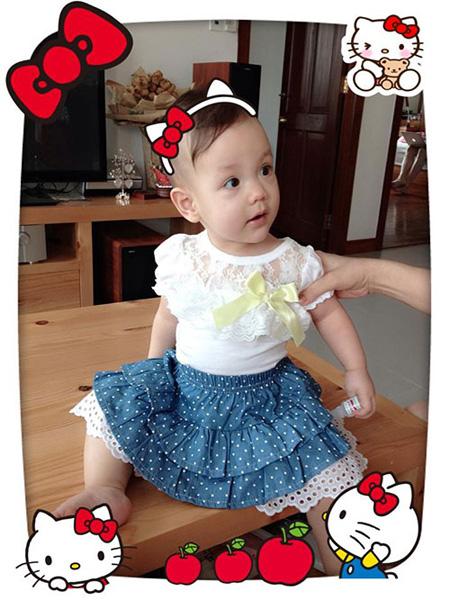 Vẻ đẹp lạ của các em bé con lai nhà sao Việt 5