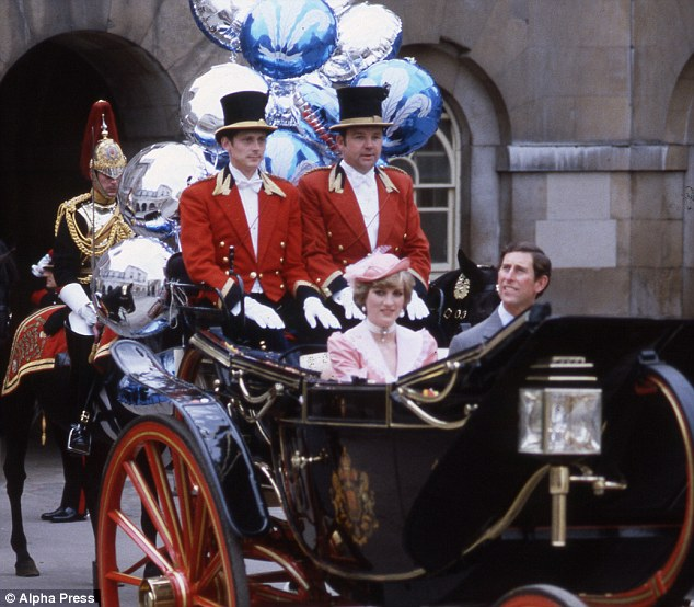 Just married: To Waterloo Station in a royal landau festooned with balloons after saying I do