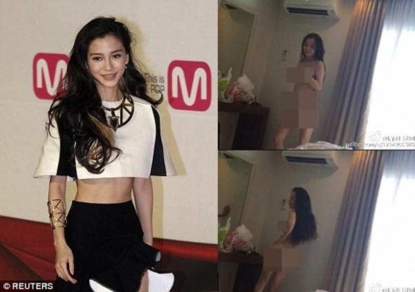 Angelababy khẳng định cô không phải là người phụ nữ khỏa thân trong clip nóng lan tràn trên mạng xã hội - Ảnh: Reuters/Weibo