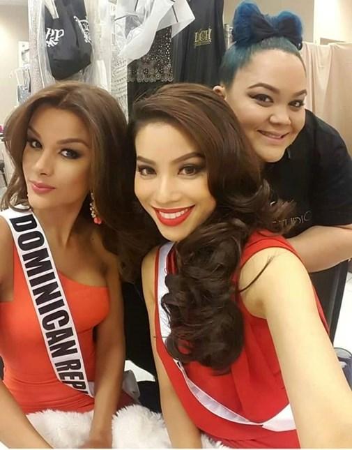 Tình bạn giữa Phạm Hương và Hoa hậu Dominican Republic cũng khiến nhiều người ngưỡng mộ