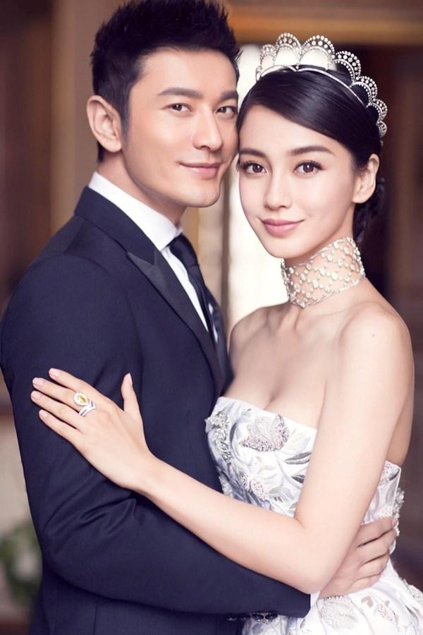 Vừa kết hôn với Huỳnh Hiểu Minh ít ngày, Angelababy liên tiếp dính lùm xùm - Ảnh: Weibo