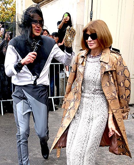 Cùng ngày hôm đó, Vitalii Sediuk đã gây rối tổng biên tập tạp chí Vogue - bà Anna Wintour.