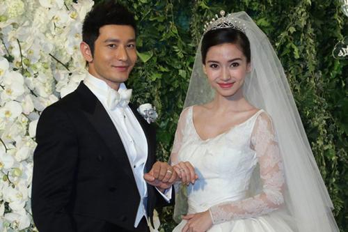 Hình ảnh mới đây của Hiểu Minh, trong đám cưới với Angelababy.