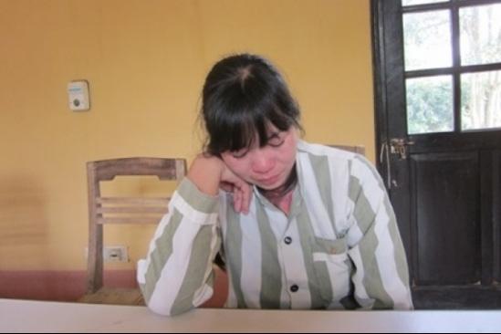 Phạm nhân Vũ Thị Thúy tại trại giam. Ảnh: H.Châu