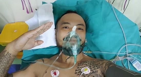 Trần Lập bình tĩnh và dũng cảm đối mặt với bệnh ung thư. Ảnh: FBNV