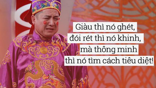Nhiều câu nói của Chí Trung trong Táo quân 2016 được cộng đồng mạng lấy làm slogan.
