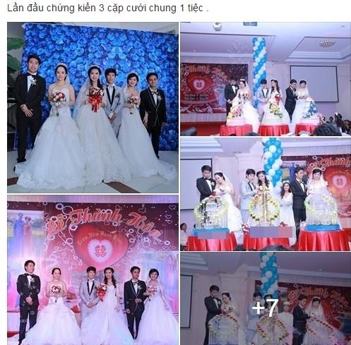 Đám cưới của ba chị em trong cùng một ngày khiến nhiều người tò mò. Ảnh chụp màn hình.